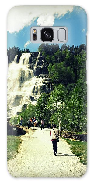Visit To Tvindefossen Falls Galaxy Case