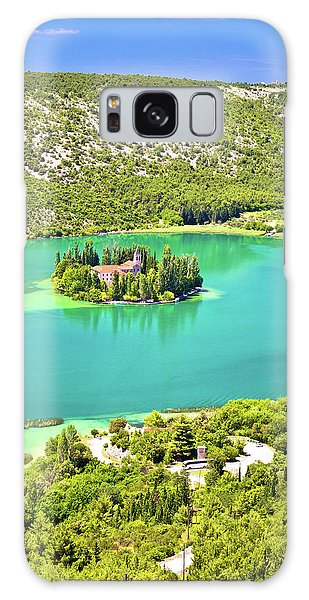 Visovac Lake Island Monastery Aerial View Galaxy Case by Brch Photography