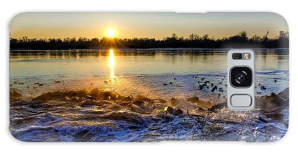 Vistula River Sunset 3 Galaxy Case