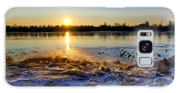 Vistula River Sunset 3 Galaxy Case