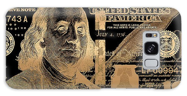 One Hundred Us Dollar Bill - $100 Usd In Gold On Black Galaxy Case
