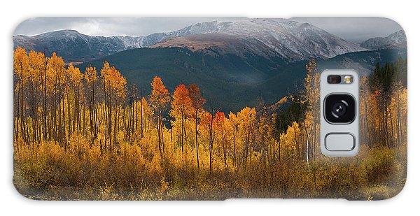 Vivid Autumn Aspen And Mountain Landscape Galaxy Case