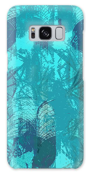 Vivid Blue Seafoam Nyc Water Towers  Galaxy Case
