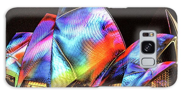Galaxy Case featuring the photograph Vivid Festival, Sydney by Wallaroo Images