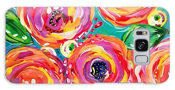 Pop Art Galaxy Case - Vivid Flora by DAKRI Sinclair