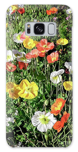 Vivid Mix Of California Poppies Galaxy Case