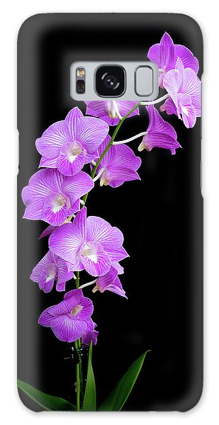 Vivid Purple Orchids Galaxy Case