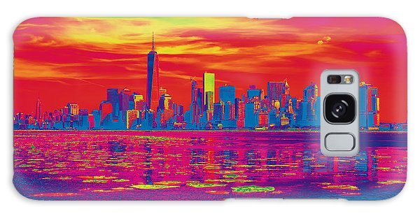 Vivid Skyline Of New York City, United States Galaxy Case