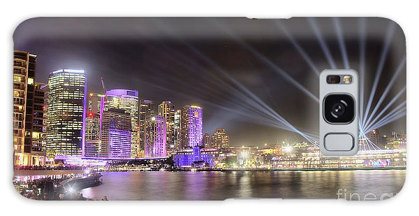 Galaxy Case featuring the photograph Vivid Sydney Skyline By Kaye Menner by Kaye Menner