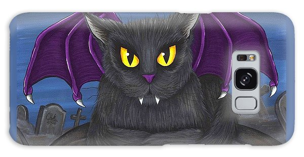 Vlad Vampire Cat Galaxy Case by Carrie Hawks