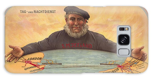 Vlissinger Post Route - Zeeland Maritime Company Poster - London To Flushing Ship Route Galaxy Case