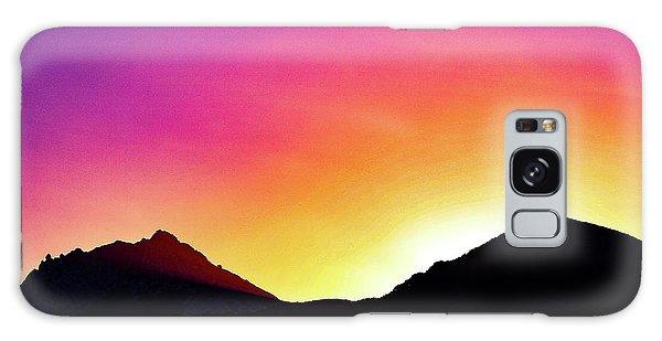 Volcanic Sunrise Galaxy Case