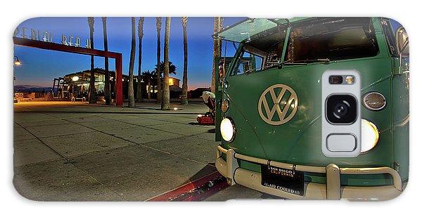 Volkswagen Bus At The Imperial Beach Pier Galaxy Case