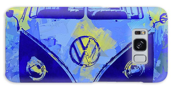 Volkswagen Bus Pop Blue Galaxy Case