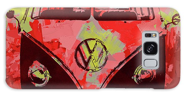Volkswagen Bus Pop Red Galaxy Case