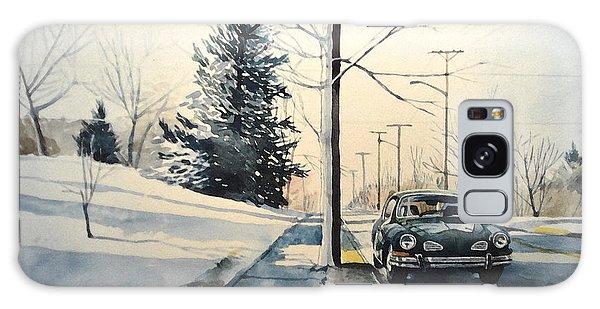 Volkswagen Karmann Ghia On Snowy Road Galaxy Case