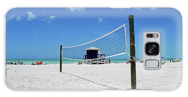 Galaxy Case featuring the photograph Volley Ball On The Beach by Gary Wonning