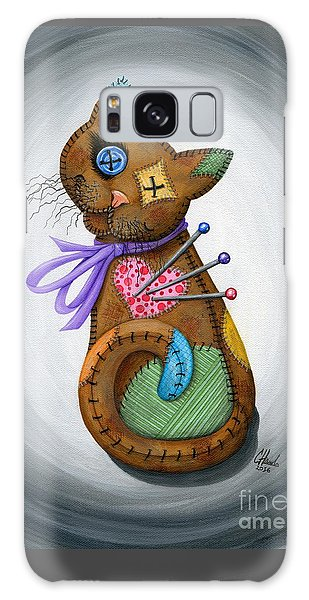 Galaxy Case featuring the painting Voodoo Cat Doll - Patchwork Cat by Carrie Hawks