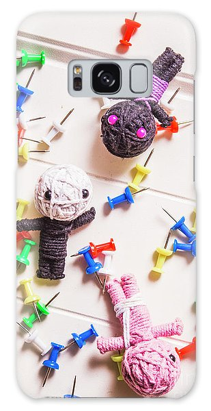 Voodoo Galaxy Case - Voodoo Dolls Surrounded By Colorful Thumbtacks by Jorgo Photography - Wall Art Gallery