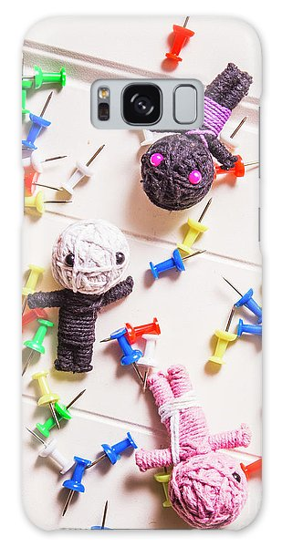 Decorative Galaxy Case - Voodoo Dolls Surrounded By Colorful Thumbtacks by Jorgo Photography - Wall Art Gallery