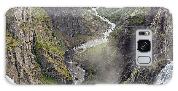 Voringsfossen Waterfall And Canyon Galaxy Case
