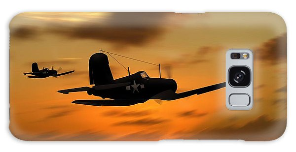 Vought Corsairs At Sunset Galaxy Case by John Wills