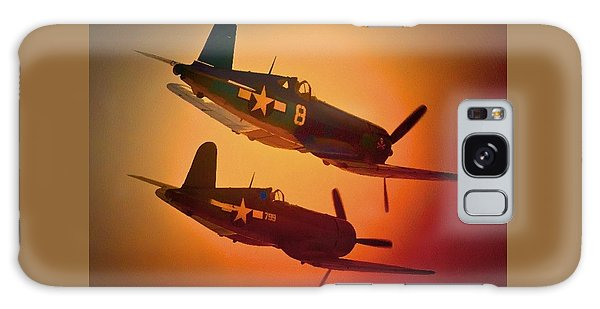 Vought F4u Corsair Sunset Two Ship Galaxy Case