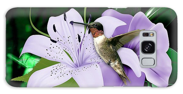 Galaxy Case featuring the mixed media Voyage Hummingbird by Marvin Blaine