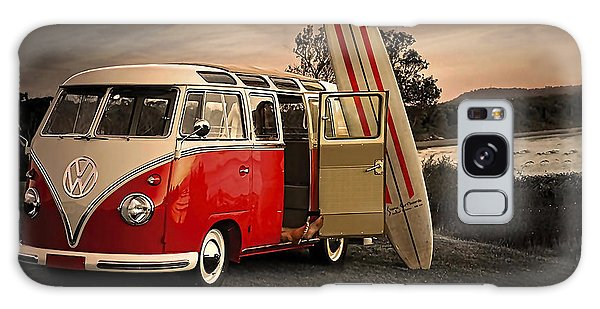 Vw Bus Sufrboard Beach Collection Galaxy Case