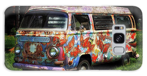 Galaxy Case featuring the photograph Vw Psychedelic Microbus by Bill Swartwout Fine Art Photography
