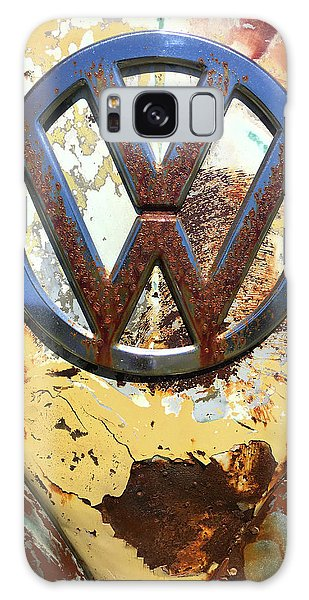 Vw Volkswagen Emblem With Rust Galaxy Case