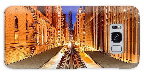 Art Institute Galaxy Case - Wabash And Adams -l- Cta Station And Trump International Tower Hotel At Dawn- Chicago Illinois by Silvio Ligutti