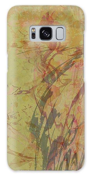 Wabi Sabi Ikebana Rose On Yellow Green Galaxy Case