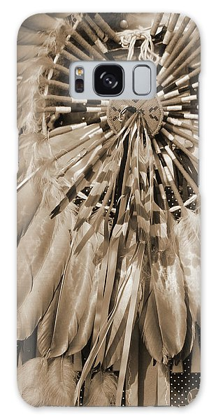 Wacipi Dancer In Sepia Galaxy Case by Heidi Hermes