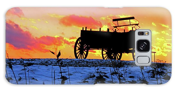 Wagon Hill At Sunset Galaxy Case