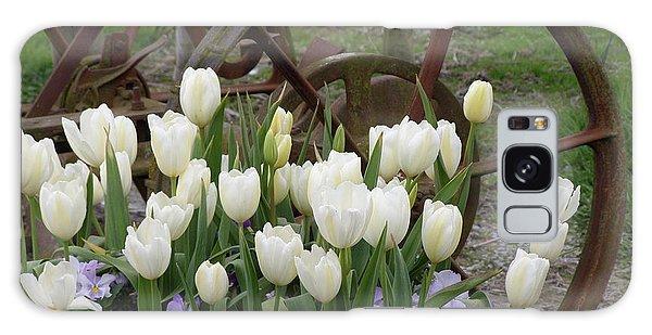 Wagon Wheel Tulips Galaxy Case
