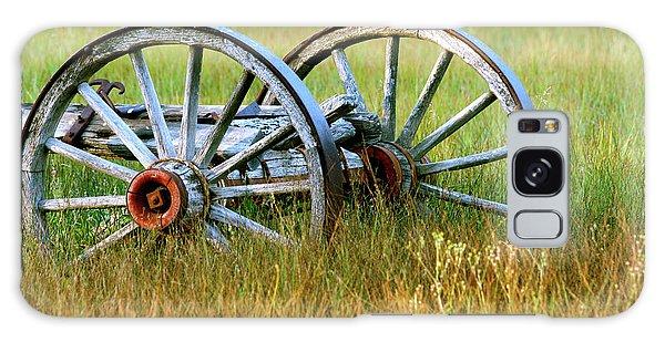 Wagon Wheels Galaxy Case by Melanie Alexandra Price