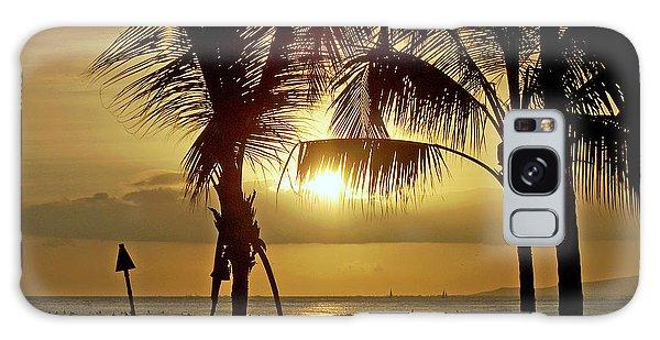 Waikiki Sunset Galaxy Case by Anthony Baatz