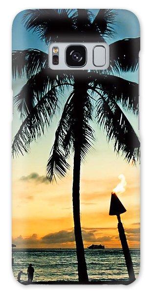 Waikiki Sunset Galaxy Case