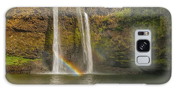 Wailua Falls Rainbow Galaxy Case