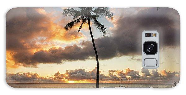 Waimea Beach Sunset - Oahu Hawaii Galaxy Case