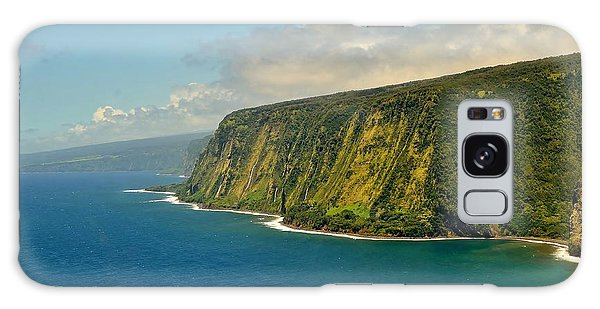 Waipio Waterfall Coastline Galaxy Case