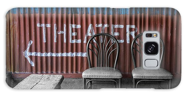 Corrugated Metal Theater Sign Galaxy Case