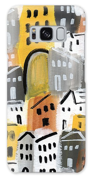 Town Galaxy Case - Waiting For Autumn- Expressionist Art by Linda Woods