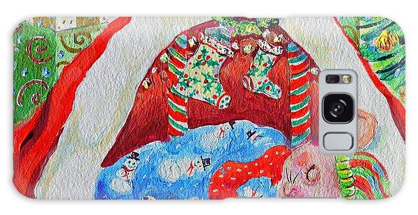 Waiting For Santa Galaxy Case by Li Newton