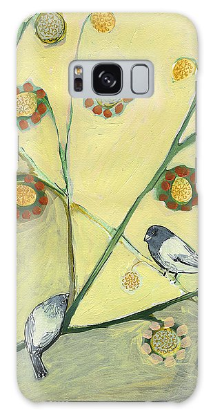 Chickadee Galaxy S8 Case - Waiting For The Dance Of Spring by Jennifer Lommers