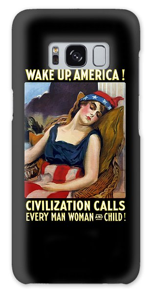 Lady Galaxy Case - Wake Up America - Civilization Calls by War Is Hell Store