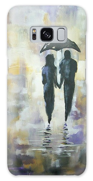 Walk In The Rain #3 Galaxy Case by Raymond Doward