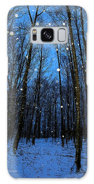 Walk In The Snowy Woods Galaxy Case