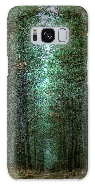 Walk In The Woods Galaxy Case by Loni Collins